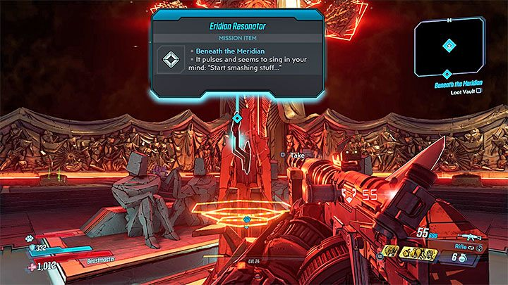 The defeated boss will leave a lot of credits, eridium and valuable random loot - Beneath the Meridian | Borderlands 3 Walkthrough - Main Quests - Borderlands 3 Guide